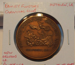 Family Funsters Carnival Club Metaire LA. Medal - $7.20