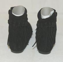 I Love Yo Kids AVA 92T Girls Fringe Boot Black Zip Up Size Six image 4