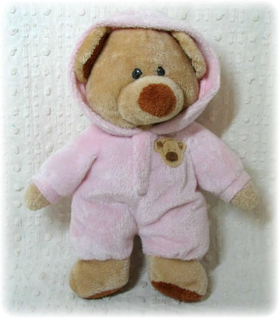 Ty Pluffies PJ Bear Pink Plush Pajamas Teddy Bear Lovey Tylux Minky Beanie  -  16.14 8ce3b020e552