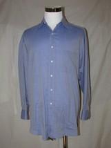 Men's Blue Tasso Elba Long Sleeved Dress Shirt Large - $21.99