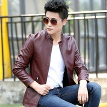 Autumn Trendy! Men's PU Casual Jacket Male Fashion Leather Jacket KU0218 - $49.98