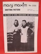 Vintage Mary Maxim Knitting Patterns Tabard Vest LADIES Small Medium Large - $3.99