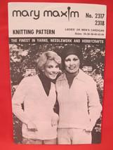 Vintage Mary Maxim Knitting Patterns Cardigan Sweater ADULTS Sizes 34 - 44 - $5.99