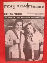 Vintage Mary Maxim Knitting Patterns Cardigan Sweater Hat  LADIES Size 32 - 38 - $5.99