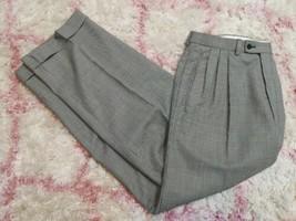 Zanetti Men's Black & White Hounds Tooth Pants 32x30 Super 100's Wool Ma... - $39.59