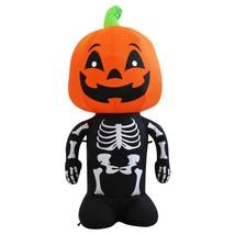 VOCOO Halloween Spontaneous Lnflatable Cute Skull Body With Pumpkin Head... - £33.54 GBP
