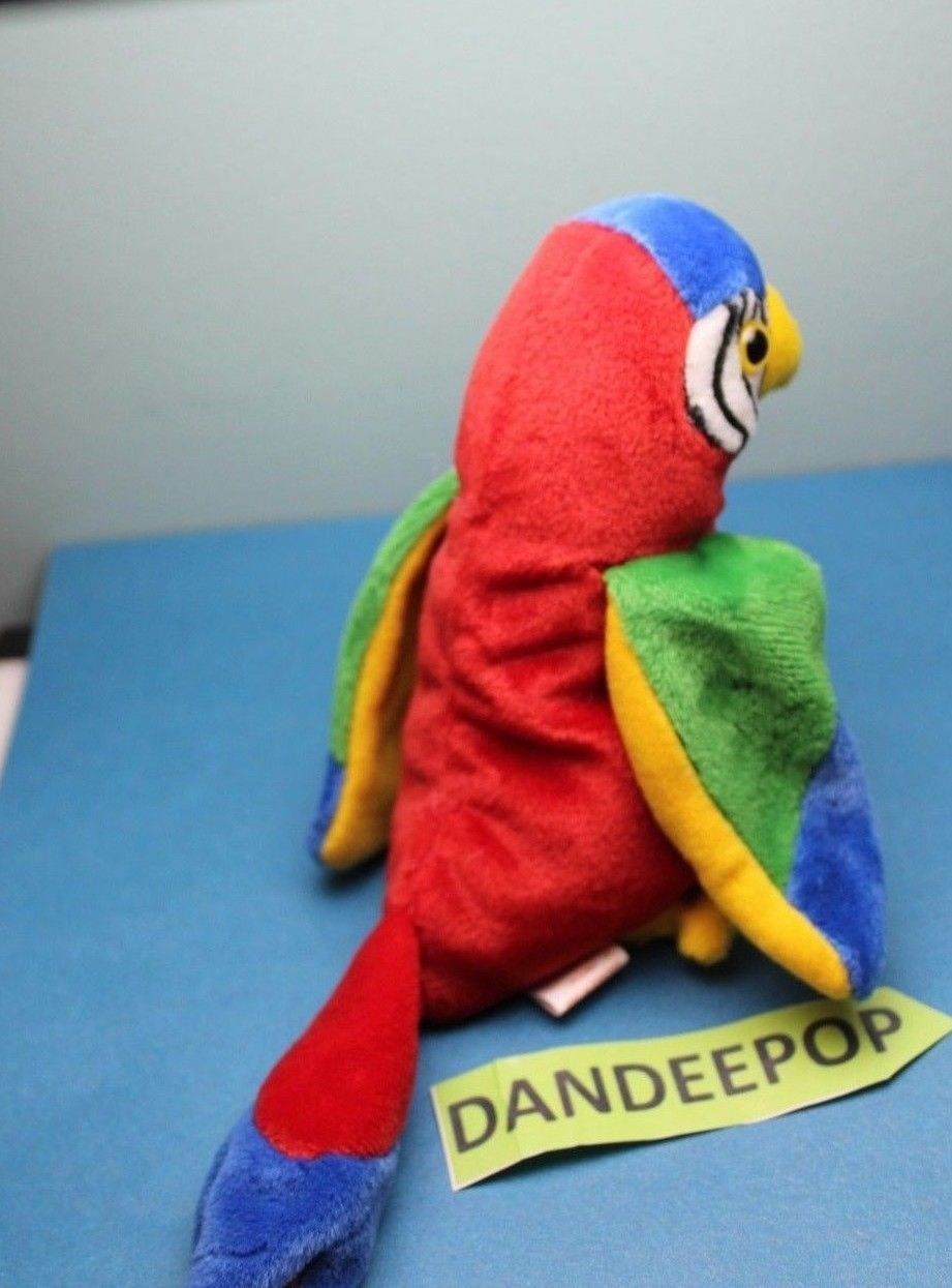 74d56780844 TY Retired Beanie Baby Jabber Parrot Bird 1997 Rare Error Tag Retired Ty w  tags