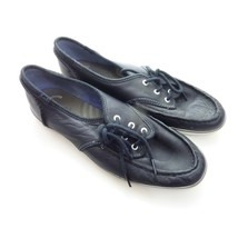 Keds Black Faux Leather Champion Boat Shoe Womens 8 - $18.00