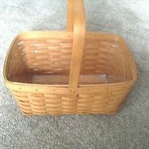 1995 Longaberger Market Basket - Large with protector  euc stationary  h... - $46.40
