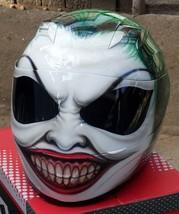 New Custom Airbrush Helmet Joker Smile (Dot & Ece Certified) - $250.00