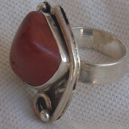 Natural blood stone ring MT806