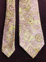 "Robert Talbott  Mens Tie Silk 60"" Handmade best Of Class Pastel Paisley 3J5 - $59.84"