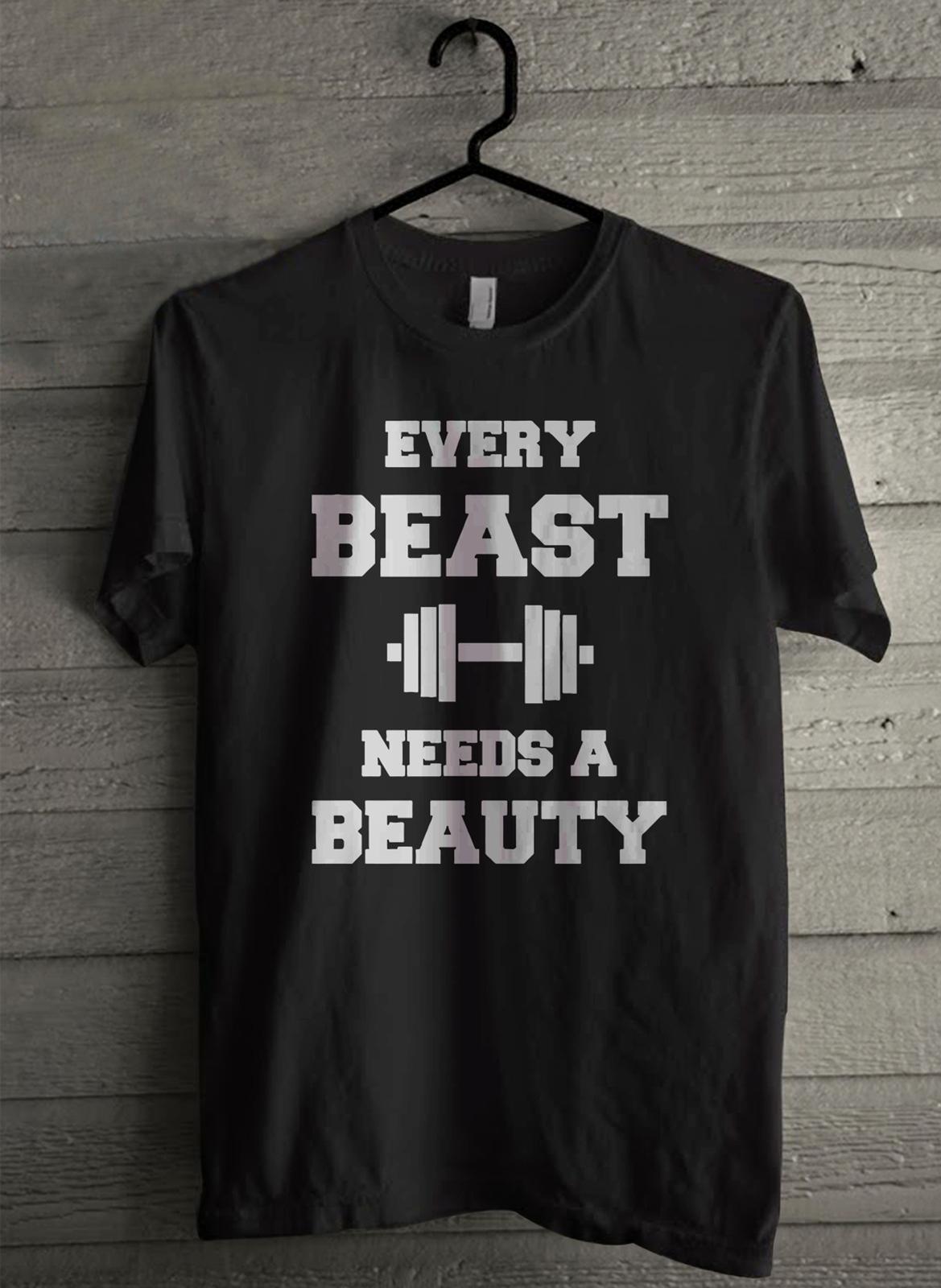 Every Beauty Needs a Beast Men's T-Shirt - Custom (263)