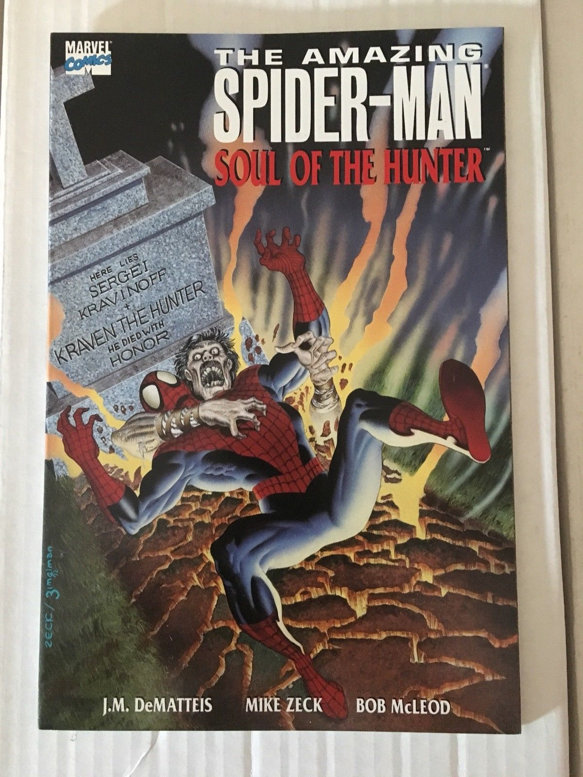 Amazing Spider-Man Soul Of Hunters Trade Paperback 1992 Marvel Comic Book VF+