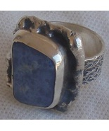 Lace glass silver ring SL 91 - $36.00