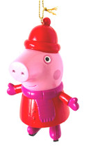 It's Peppa Pig all bundled Up for Winter on Ice Skates-  Christmas Ornament - $5.00