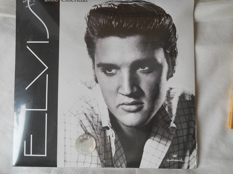 ELVIS Presley 2000 calendar Hallmark E.P.E. Official Product 12 Large Images NEW