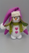 Handmade Doll Snowman, Handmade, Snowman Art Doll, Snowman Decorative Doll - $50.50