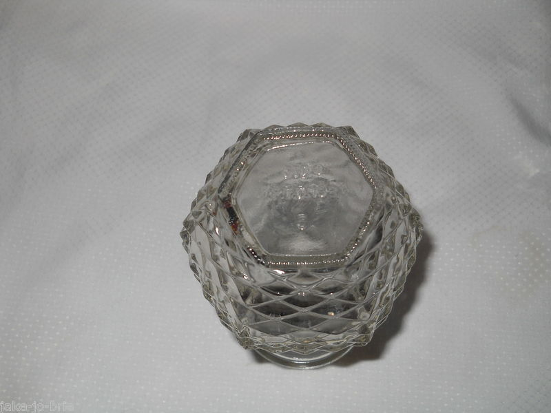 """Set of 4 Clear Glass sq Vases 8.5"""" Tall E O Brody FTD 6"""" 1981 Pineapple Pressed"""
