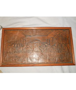 Embossed Tin Metal Stamped pressed LAST SUPPER Picture Jesus Disciples F... - $73.47