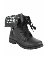 Disney The Nightmare Before Christmas Black Combat Boots Womens Size 6 NWT - $49.99