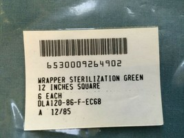 Sterilization Wrappers Medical Green 12 x 12 LOT OF 6 - $6.64