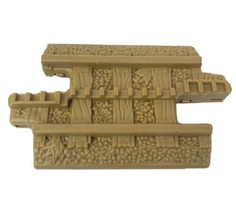 1 FISHER PRICE GEO TRAX TAN GROOVE CONNECTOR TRACK ROAD PLASTIC REPLACEM... - $4.69