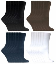 Sock Snob - 6 Pairs Thin Casual Plain Coloured Cotton Rich Dress Socks -... - $11.96