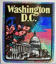 Washington D.C. Vinyl Reflective Souvenir Decal with Glitter - $2.10