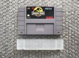 Jurassic Park - SNES Super Nintendo Game Cart & Dust Cover - Authentic/T... - $13.30