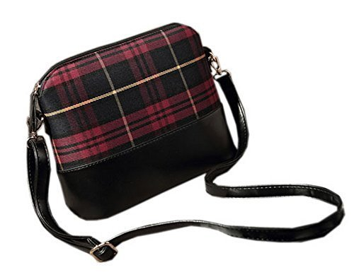 Vintage Scoland Red Plaid Small Cross-body Bag