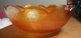"Vintage Carnival Glass Marigold by Jeanette Crackle pattern 7 1/2"" diameter bowl image 5"