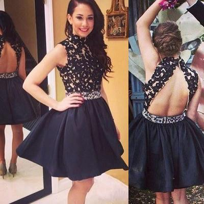 short Homecoming dresses,homecoming Dress for girls,black Prom Dresses