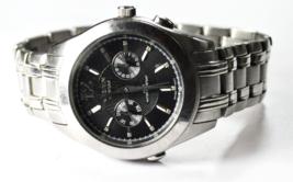 Gruen GSM066 Black Diamond Dial Calendar Wristwatch 41mm Day Date Quartz - $98.99