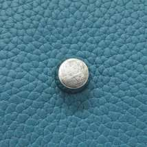 HERMES Lindy 34 Taurillon Clemence Blue Jean Handbag Shoulder Bag #Q Authentic image 8