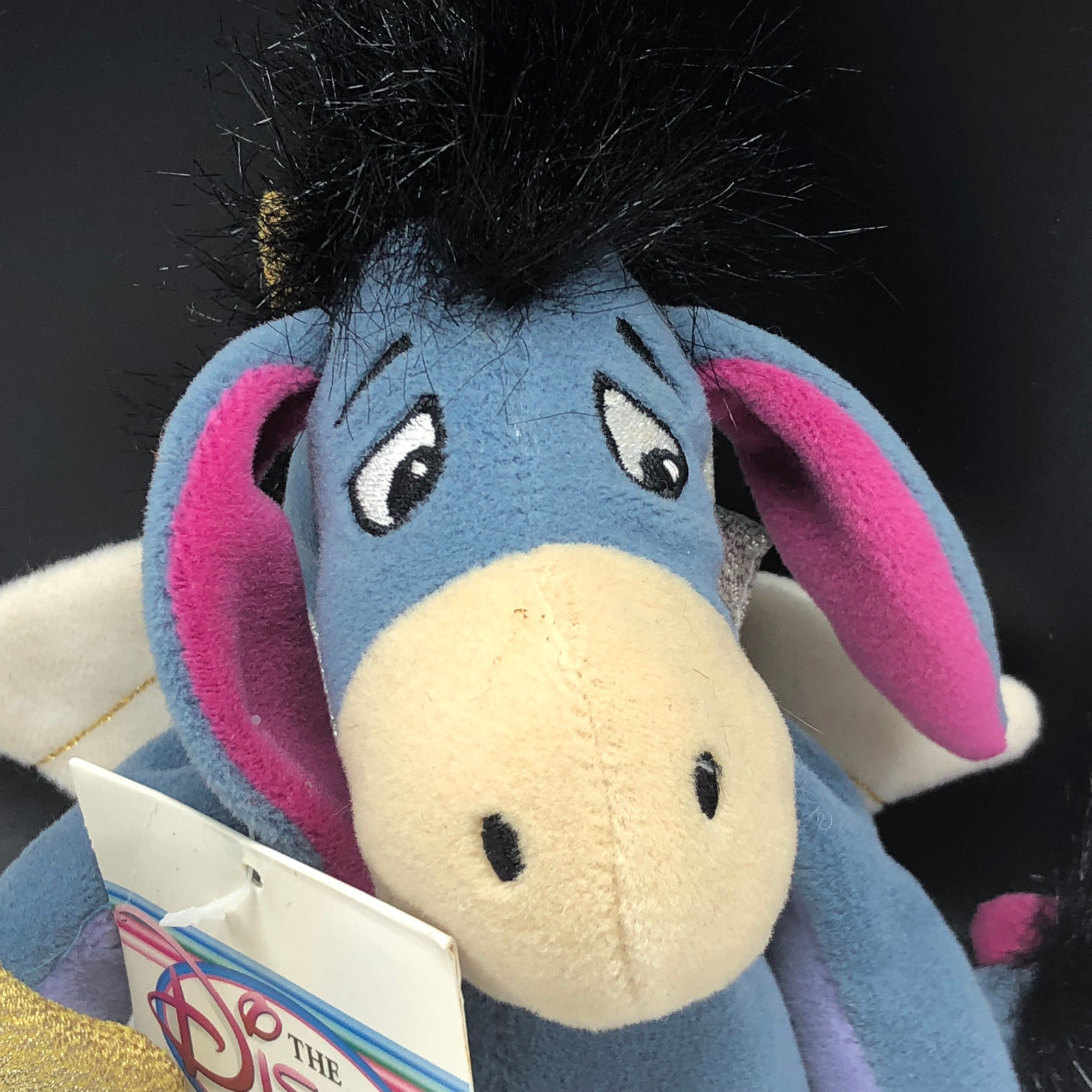 DISNEY STORE PLUSH bean bag stuffed animal Christopher Robin Pooh Eeyore cupid