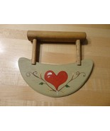 TAN WOODEN CHOPPER COUNTRY KITCHEN COLLECTIBLE DECORATION HEART - $10.99