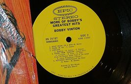 Bobby Vinton  More of Bobby's Greatest Hits Bobby Vinton AA20-RC2106 Vintage image 3