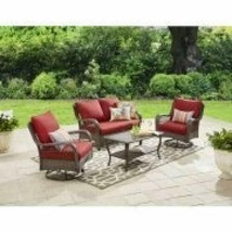Home Garden Patio Outdoor Living Yard Furiture 4 Piece Outdoor Conversat... - $859.69