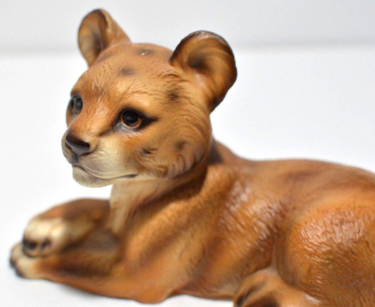 Lion Cub Figurine Porcelain Zoo Wild Cat Safari UCAGCO UCGC Japan Vintage RARE