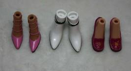 Bratz Barbie Pink Heels White Boots Pink Shoe Jade Yasmin Sasha Chloe Al... - $27.71