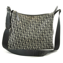 Christian Dior Trotter Canvas Shoulder Bag Black Auth 7203 - $360.00