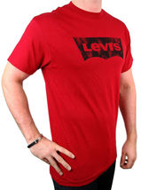NEW NWT LEVI'S MEN'S PREMIUM CLASSIC  COTTON T-SHIRT SHIRT TEE RED image 4