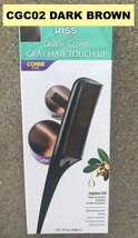 KISS COLORS QUICK COVER GRAY HAIR TOUCH UP CGC02 DAREK BROWN COMB TYPE