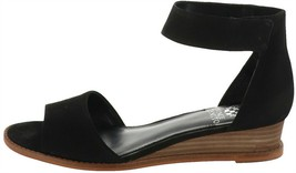 Vince Camuto Suede Two-Pc Sandals Rejjie Black 9.5W NEW A353467 - $36.61