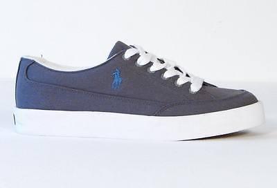 Ralph Lauren Gray Canvas Deck Shoes Sneakers NEW