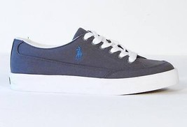 Ralph Lauren Gray Canvas Deck Shoes Sneakers NEW - $44.99