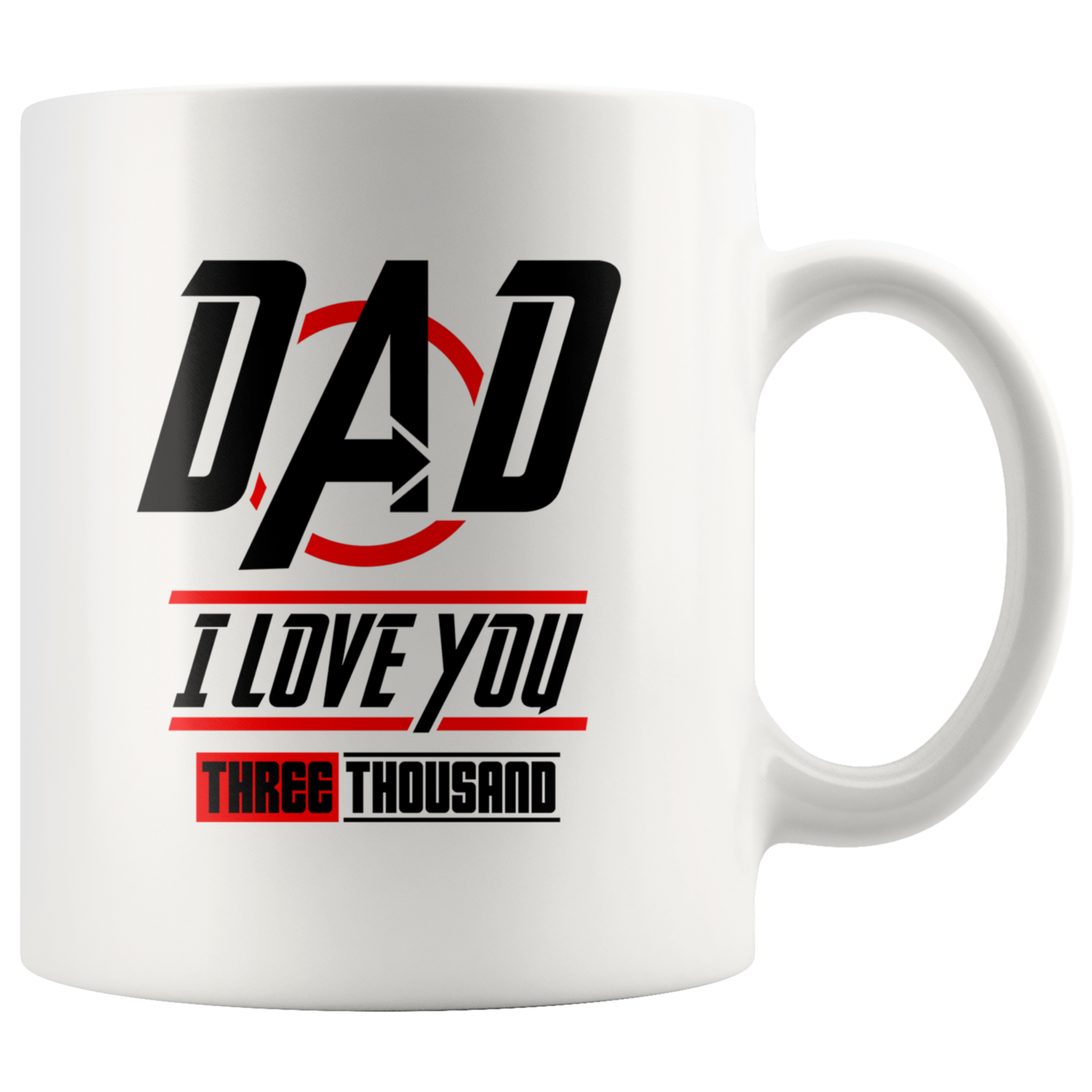 Coffee mug gift father day gift Dad I love you three thousand