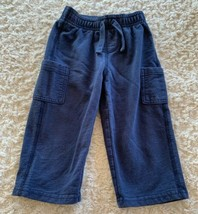Jumping Beans Boys Navy Blue Pants Side Pockets 18 Months  - $4.50