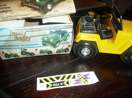 VINTAGE BATTERY OPERATE FANCY BUGGY WITH FLASHING HEADLIGHTS - $19.79